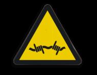 Pictogram W033 - Gevaar voor prikkeldraad