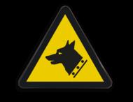 Pictogram W013 - Gevaar voor waakhond