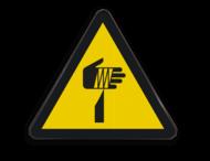 Pictogram W022 - Gevaar voor snijden