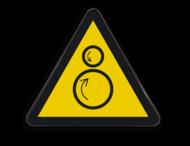Pictogram W025 - Gevaar voor indraaien