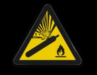 Pictogram W029 - Gevaar voor Gascilinder onder druk