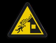 Pictogram W040 - Gevaar voor daklawine