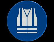 Gebodsbord M015 - Veiligheidsvest verplicht