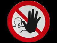 Verbodsbord P000 - Verboden toegang voor onbevoegden pictogram