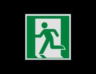 Pictogram E001 - Nooduitgang links