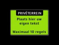 Tekstbord landscape 3:2 met banner - fluorescerend