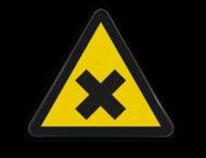 Waarschuwingssymbool Gevaarlijke en irriterende stoffen