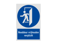 Pictogram MG30 - Nooddeur vrijhouden verplicht