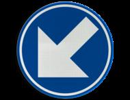 Verkeersbord België D1f - Verplicht links aanhouden