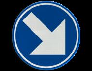 Verkeersbord België D1g - Verplicht rechts aanhouden