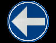 Verkeersbord België D1a-links - Verplicht links afslaan