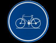 Verkeersbord België D7 - Verplicht fietspad
