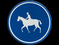 Verkeersbord België D13 - Verplichte weg voor ruiters