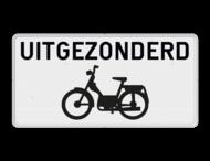 Onderbord België M2 - Uitgezonderd brommers