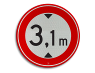 Sticker C19 - afmeting ø180mm