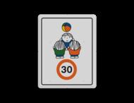 Dick Bruna - Attentiebord Snelheid - spelende kinderen
