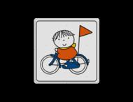 Dick Bruna - Attentiebord joep op de fiets