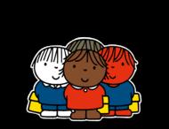 Dick Bruna - Silhouetbord groepje kinderen - Multicultureel