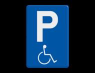Verkeersbord België E9a - Parkeren mindervaliden toegelaten