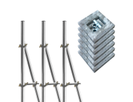 Opstelunit A03 buispaal 3700mm boven maaiveld - compleet met betonvoeten