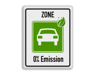 Zonebord begin ZERO Emissie - milieuzone