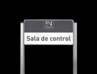 Portaalsysteem TS3 inclusief informatiebord 600x300mm + 2 Geborsteld aluminium staanders 30x30mm