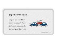 Dick Bruna - Lesbord - geparkeerde auto's