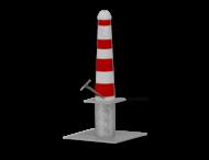 Hagenaartje Ø164x750mm met grondstuk - RAL9016-rode banen inclusief wapen