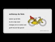 Dick Bruna - Lesbord - achter op de fiets