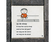 Dick Bruna Stoeptegel - op de stoep - 300x300mm