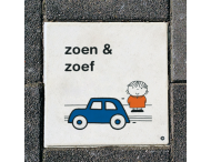 Dick Bruna Stoeptegel - zoen en zoef - 300x300mm
