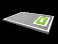 Wegmarkering oplaadpunt - symbool stekker groen wit