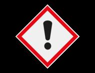 Pictogram GHS07 - Gevaar schadelijke / irriterende stoffen