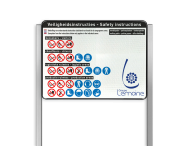 Portaalsysteem TS inclusief informatiebord rechthoek 4:3 + 2 Geborsteld aluminium staanders
