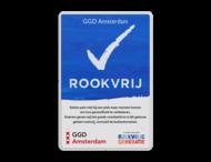 Rookvrij bord - GGD Amsterdam - Op weg naar een Rookvrije generatie