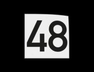 Magneetbord 120x120mm wit met zwart cijfer opdruk