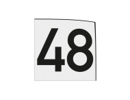 Sticker of magneetbord 200x200mm wit met zwart cijfer opdruk