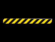 Markering geel/zwart - 990x50mm - klasse 1 reflecterend