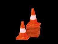 Afzetkegel PVC 300mm - set van 10 stuks - oranje/wit