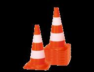 Afzetkegel PVC 500mm - set van 10 stuks - oranje/wit