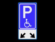Verkeersbord RVV E06 + pictogram - Parkeren minder validen