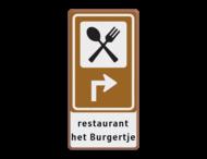 Bewegwijzering Restaurant + tekst | BW101 + pijlfiguratie