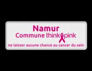 Naambord Commune ThinkPink.be - wit - magenta in huisstijl