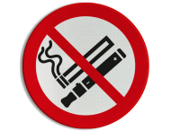 Verbodsbord - No Smoking and Vaping