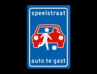 Verkeersbord L53b - Speelstraat (niet officieel)