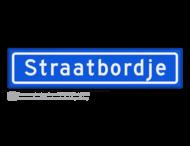 Straatnaambord KOKER 70x15cm - max. 14 karakters - NEN1772