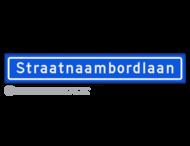 Straatnaambord KOKER 100x15cm - max. 18 karakters - NEN1772