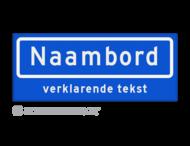 Straatnaambord met ondertekst KOKER 50x20cm - max. 8 karakters - NEN1772