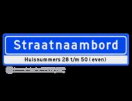 Straatnaambord 14 karakters 800x200 mm + Huisnummers NEN 1772