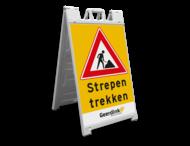 CarrySign TS 635x1140mm - A-bord vol reflecterend voor werk in uitvoering